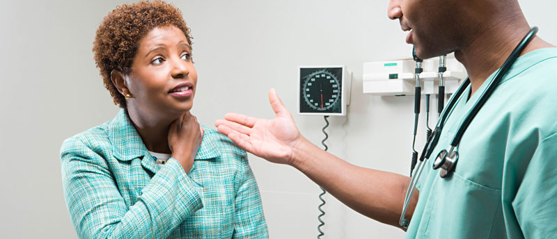 woman talking to a medical professional